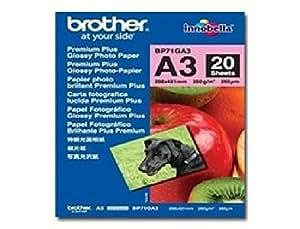 BROTHER bP71GA3 innobella premium plus-papier pHOTO brillant-a3 (297 x 420 mm), 260 g/m-pour 2–20 feuilles dCP j4120, j4215, mFC j4220 j4420, j462 bROTHER bP71GA3 de papier pHOTO a3 20shts 260gr prem plus glossy