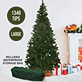Olsen & Smith Grande 230 cm 1346 Punte Albero di Natale in Pino Artificiale con Custodia Impermeabile
