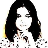 Selena (Marie) gomez- Bild moderne handbemalt–Pop Art Effect (Format 30x 30cm)