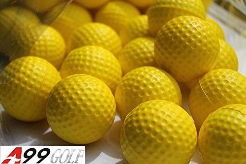 36pcs PU balles de golf en mousse Jaune pour entraîner .