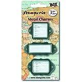 Paper Moon - Italiana 3 Porta etichette di metallo brunito in 3 modelli Scrapbooking, Card Making, Decoupage