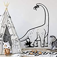zzlfn3lv Large Diplodocus Dinosaur Wall Decal Boy Room Nursery T Rex Dinosaur Animal Wall Sticker Kids Room Vinyl 86 * 56cm