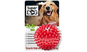 Super Dog Spiked Rubber Dog Ball (Color May Vary)…