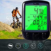 ARCELI SD-563C Computadora de Bicicleta inalámbrica LCD Luz de Fondo Bicicleta Ciclismo Velocímetro Cuentakilómetros Computadora de Bicicleta Cuentakilómetros Velocímetro