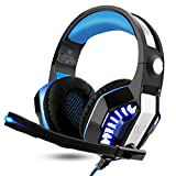 ARINO GM-2 Gaming Headset Over-Ear Kopfhörer mit LED Licht und Mikrofon für PS4 PC Xbox One Handy Spiele, Klangvolle Bässe (GM-2)