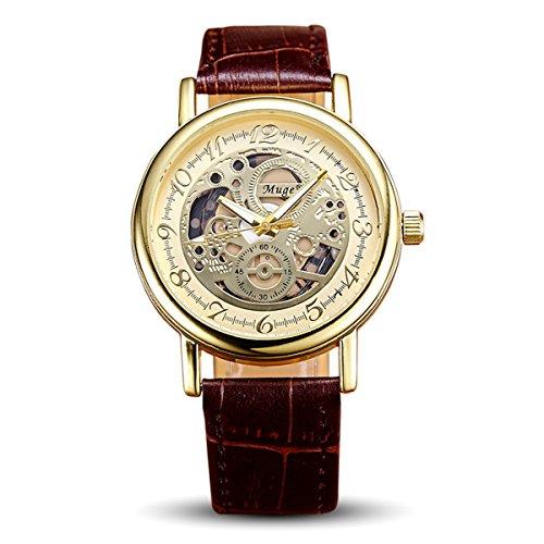 Relojes de pulsera Hombre Reloj cronógrafo automático resistente al agua, reloj deportivo para vacaciones de verano, playa, deporte, manecillas luminiscentes, color amarillo