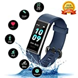 Kungix Ip68 Fitness Tracker with Heart Rate Monitor, Fit Tracker Waterproof Sport Watch for Andorid iPhone, Activity Tracker with Step Counter, Calorie Counter, Pedometer Watch for Kids Women and Men