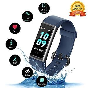 KUNGIX Pulsera de Inteligente Mujer, Smartwatch Impermeable IP68 con 14 Modos de Deporte, 0.96 Inch Pantalla Color Reloj Deportivo con Pulsómetro para Hombre Android iPhone iOS Teléfono 2