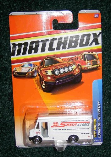 MATCHBOX 2010 CITY ACTION WHITE EXPRESS DELIVERY PANEL TRUCK 60 OF 100 by H-M SHOP by H-M SHOP -
