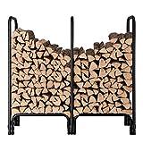 ORIENTOOLS Étagère à bûches en métal pour cheminée en Bois d'intérieur et d'extérieur pour empilage de Poils en Acier (145 cm)