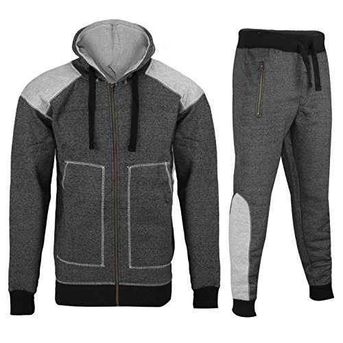 Mens Full Tracksuit Set Fleece Zip Hoodies Top Jogging for sale  Delivered anywhere in UK