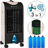 KESSER 3in1 Mobile Klimaanlage   Klimagerät   Ventilator Klimaanlage   4 L Tank Timer 3 Stufen   Ionisator Luftbefeuchter   Luftkühler   Champagne