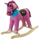 Imaginarium - Balancín de madera con forma de caballito, Bamboleo Furia Pink (88030)