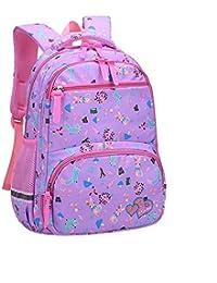 Dfghbn Mochila de Escuela Primaria para Adolescentes Chicos Gilrs Elementary School Bookbag (Color : Púrpura,…
