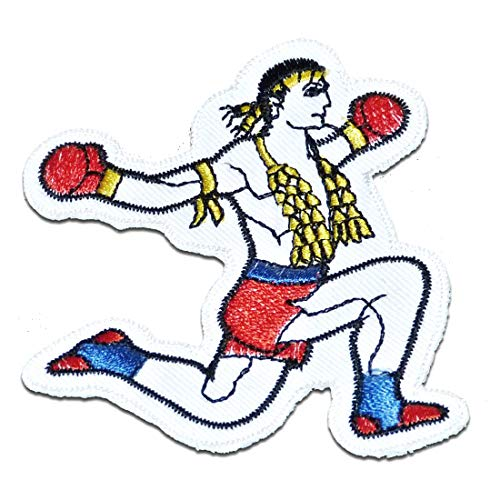 Parches - Tailandia BOXING MUAY THAI - blanco - 6.8x8cm
