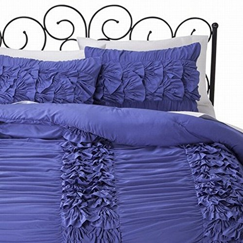 xhilaration-doble-xl-morado-violeta-capas-volantes-comforter-y-sham-set