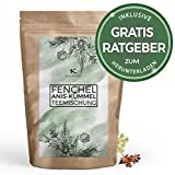 Fenchel Anis Kümmel Tee lose 100g Kräutertee natürlich bekömmlich Fencheltee Anistee Kümmeltee - Kräuterteemischung frischer Tee im Aromabeutel