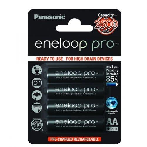 Galleria fotografica Panasonic eneloop Pro BK-3HCCE/4BE 2500mAh Blister da 4