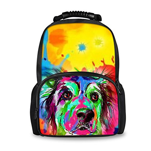 Coloranimal , Damen Rucksackhandtasche cute pug-7 large(17.3 H x 12.2 L x 7.6 W) cute collie-3