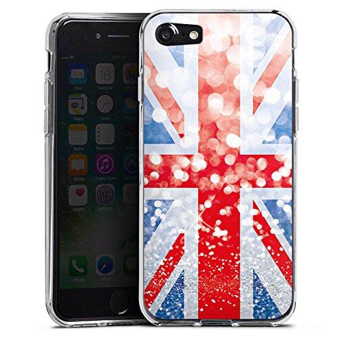 Apple iPhone X Silikon Hülle Case Schutzhülle Grossbritannien Großbritannien Glitzer Silikon Case transparent