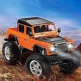 Mopoq Surdimensionné Télécommande sans Fil Land Rover Defender Pickup Escalade Véhicule Tout-Terrain Quatre Roues motrices Charge Voiture électrique Garçon Voiture de Jouet