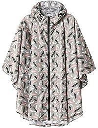 Summer Mae Regen Poncho Jacke Mantel für Erwachsene mit Kapuze wasserdicht mit Reißverschluss im Freien