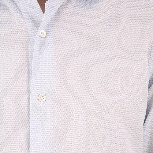 BARBA Herren Langarmshirt blau hellblau Kragenweite: 41 Hellblau