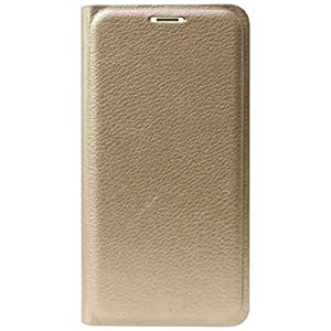 DMG Premium PU Leather Wallet Flip Cover for Redmi 3S Prime (Gold)