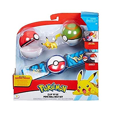 Pokemon Clip & Go Poke Ball Belt Set - Verde y Rojo de Character Optiions