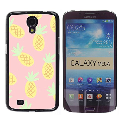 Planetar® ( Pineapple Drawing Cannabis Smoke 420 ) Samsung Galaxy Mega 6.3 / I9200 / SGH-i527 Handyhülle Schale Hart Silikon Hülle Schutzhülle Case