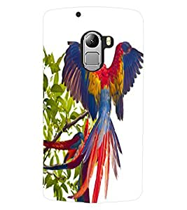 ColourCraft Beautiful Parrot Design Back Case Cover for LENOVO VIBE X3 LITE