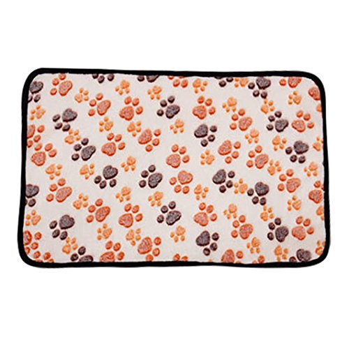 Xshuai Fashion Cute Pet Mat Small Large Paw Bone Print Cat Dog Puppy Cushion Fleece Soft Blanket Bed S M L XL