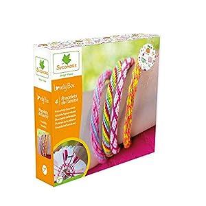 Sycomore- Kit de Pasatiempos creativos niños-4 Pulseras de la Amistad-DIY-Lovely Box Collector-A Partir de 7 años-Sycomore-CRE11030, Multicolor (CRE11030)