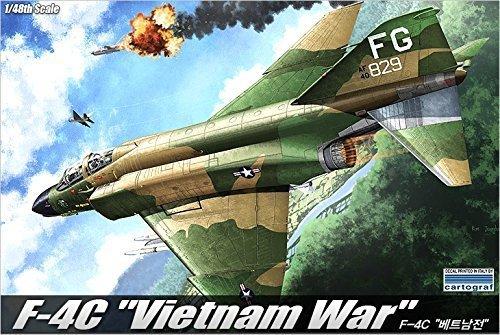 1-48-f-4c-phantom-vietnam-war-12294-plastic-model-kit-by-academy