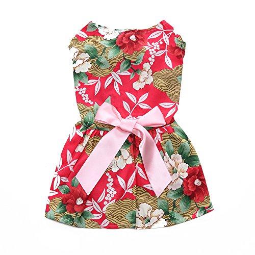Sweetie Kostüm Prinzessin - KINGDUO Sweetie Pet Kleidung Für Hund Kleid Sommerkleid Shirts Sommer Haustier Kleid-XS