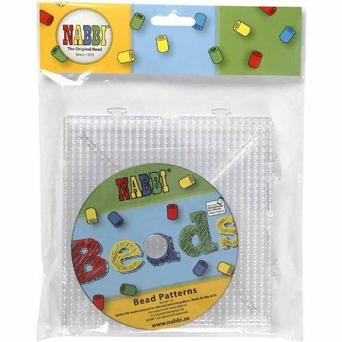 Nabbi Pannello Forato con CD, Set, Plastica, Trasparente, 15x 15cm