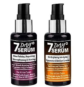 7 Day Serum - Hair Growth Booster & Anti Ageing Youthful Glow Facial Serum