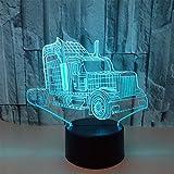 3D Optical Illusion Lampe LED Nachtlichter Neuer LKW Modell Touch Tischlampe Haus Dekoration 7 Farben Einzigartige Lichteffekte 1.5M USB Kabel Zum Kinder Geschenk