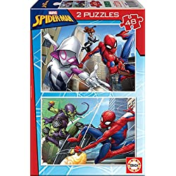 Educa Borrás Spider-Man Puzzles 2x48 Marvel 18099