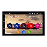 Panlelo® PA09, 7 Pulgadas 2 Din Head Unit Android 6.0 GPS Navegación Car Stereo Audio Radio 1080P Video Player ARMv7 Quad Core Incorporado Wi-Fi Bluetooth AM/FM/RDS Steering Wheel Control [Clase de eficiencia energética A]