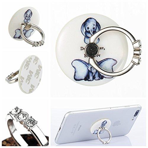 Preisvergleich Produktbild Handyhalterung Handy Ring, Alfort 360° Kristall Griff Halterung Ständer Handy Ring für iPhone, Samsung, Sony, Huawei und Alle anderen Telefone, Tabletten ( Kleine fliegende wie )