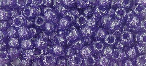 The Beadery 6 by 9mm Barrel Pony Bead in Dark Amethyst Sparkle, 900-Piece by The Beadery -