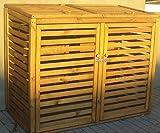 Mülltonnen-Box Mülltonnenverkleidung für 2 Tonnen inkl. Rückwand