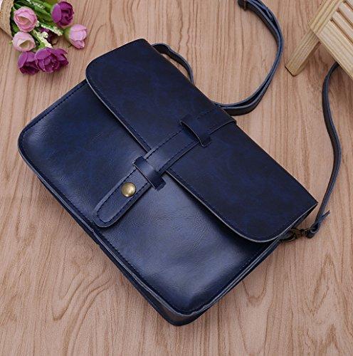 Dairyshop Borsa della spalla della signora delle donne sacchetti del messaggero CrossbodySatchel della borsa di Tote (Viola) blu profondo