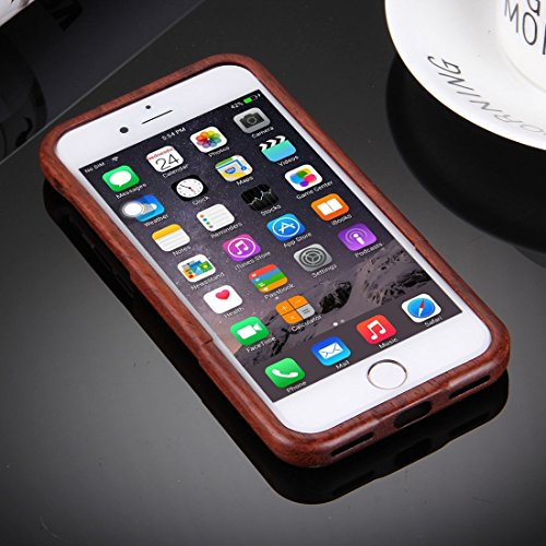 iPhone Case Cover Pour iPhone 7 Artistic Wave Pattern Séparable Rosewood Coque de protection arrière ( SKU : IP7G0915E ) IP7G0915C