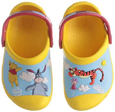 Crocs Creative Winnie The Pooh Jumps Yellow/Red Mules And Clogs Sandal 14292-735-125 13 UK  12/13 Child UK