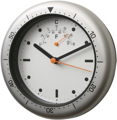 bai Cabrio Aquamaster Wand & Schreibtisch Uhr, Silber - Russo Dean Artwork