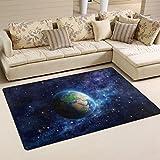 COOSUN Planet Erde im Weltall Bereich Teppich Teppich rutschfeste Fußmatte Fußmatten für Wohnzimmer Schlafzimmer 152,4x 99,1cm, Textil, multi, 60 x 39 inch