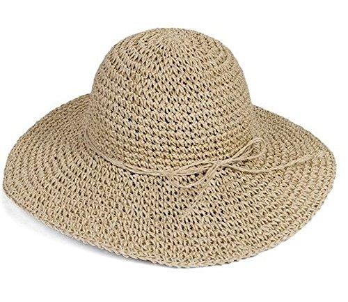 13488d6d978 HugeStore Floppy Foldable Wide Brim Chic Sun Hat Sun Visor Summer Beach  Straw Hat for Women