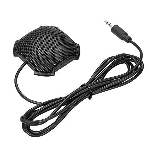 Docooler Micrófono Estéreo de Condensador Omnidireccional Mic 3.5mm
